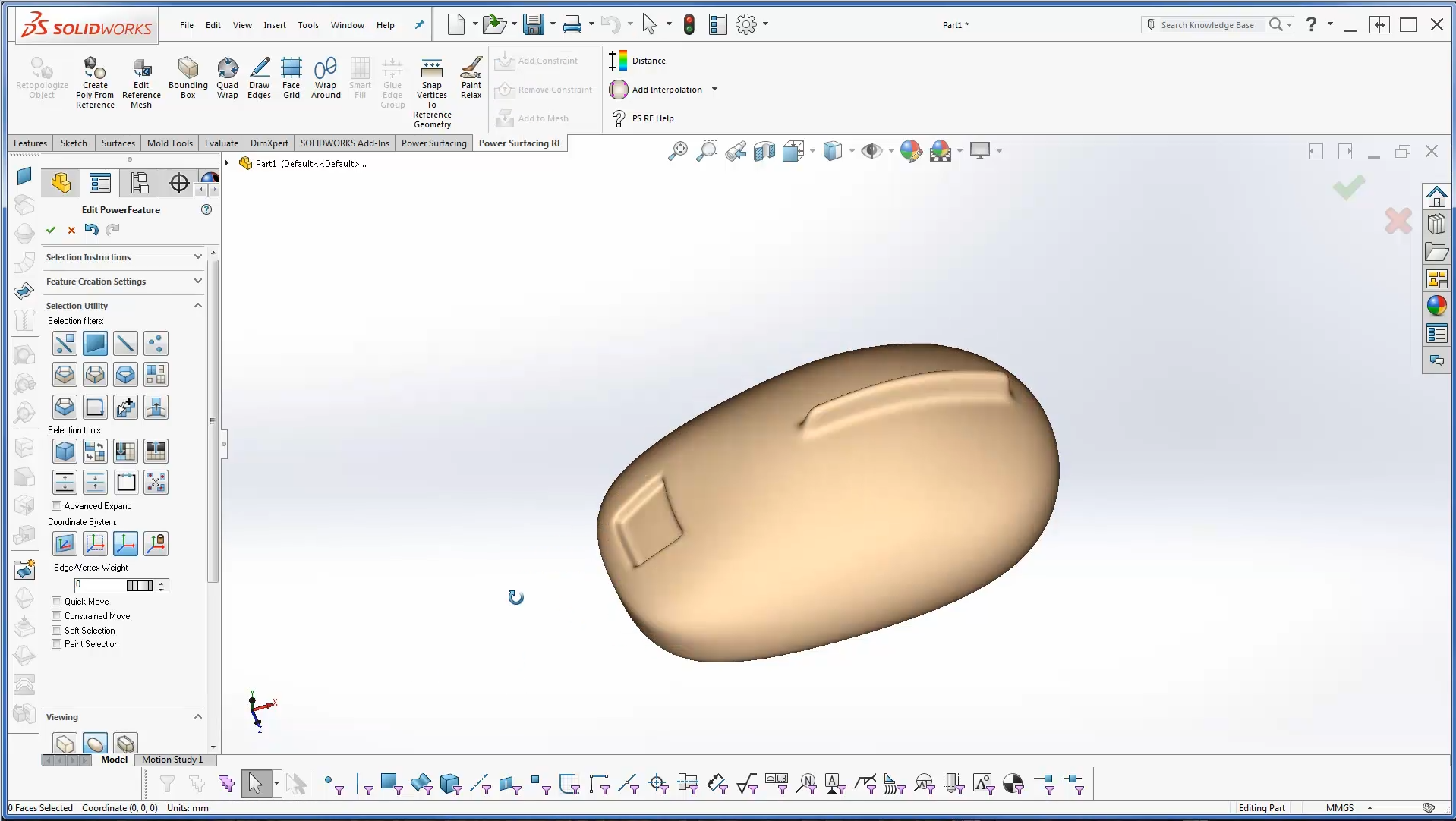 Power Surfacing RE (Reverse Engineering) for SolidWorks